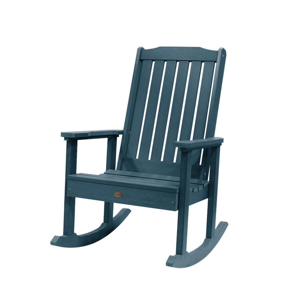 Stupendous Highwood Lehigh Nantucket Blue Recycled Plastic Outdoor Rocking Chair Pdpeps Interior Chair Design Pdpepsorg