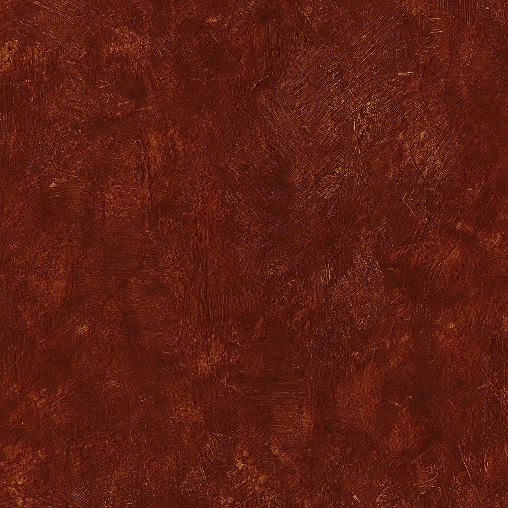 Brewster Angelo Red Plaster Texture Wallpaper