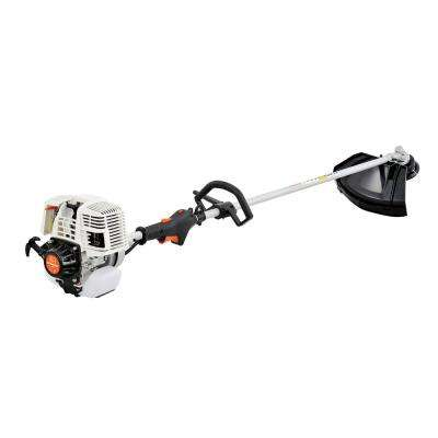 31 cc Gas 4-Cycle 2-in-1 Straight Shaft Grass Trimmer with Brush Cutter Blade and Bonus Harness