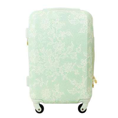 Lace Texture Hard Sided 29 in. Mint Rolling Luggage Suitcase