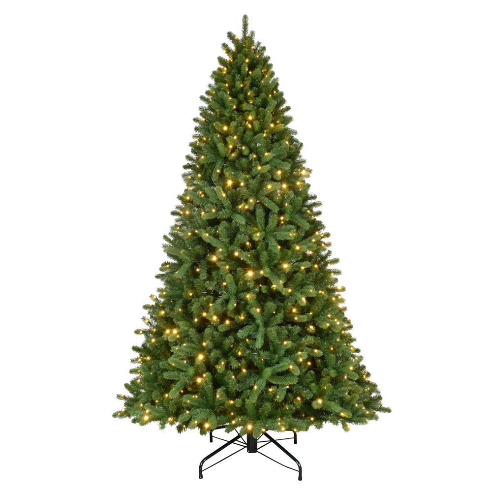 Home Accents Holiday 9 ft. Pre-LED Grand Fir Quick Set Artificial ...