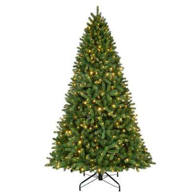 9 ft. Pre-Lit LED Grand Fir Quick Set Artificial Christmas Tree with 800 Color Changing Supernova Lights