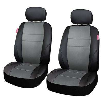 Adventure Class Poly Flat Cloth 26 in. L x 30.7 in. W x 22.4 in. H Seat Cover Set in Gray