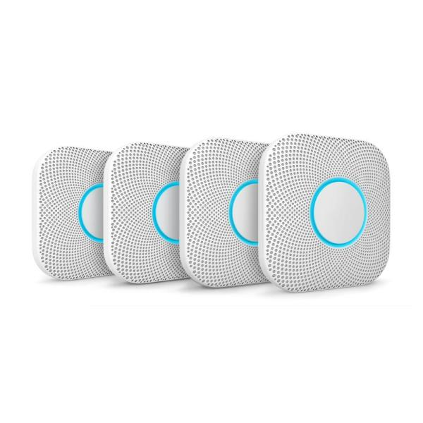 Nest Protect Battery Smoke and Carbon Monoxide Detector (4-Pack)