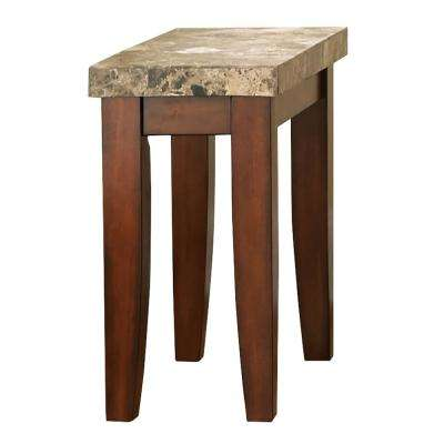 Montibello Spanish Brown Marble Chairside End Table