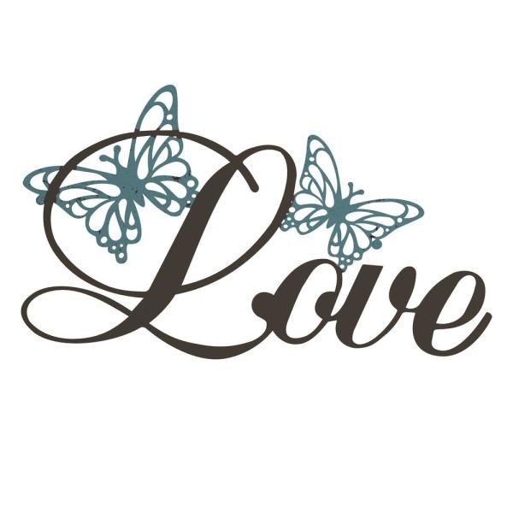 ''Love'' Metal Cutout Sign