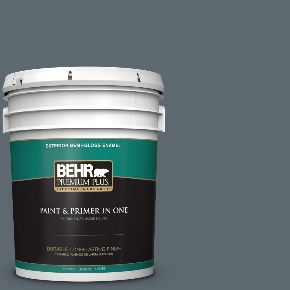 5-gal. #ECC-22-3 Rain Shadow Semi-Gloss Enamel Exterior Paint