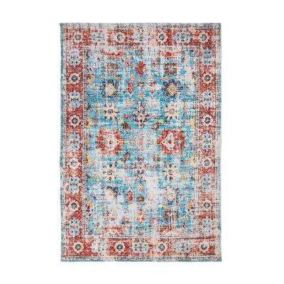 Rose Linville Red/Blue/Multi 8 ft. x 10 ft. Area Rug