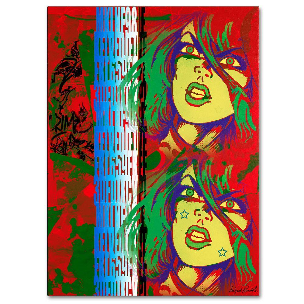26 in. x 32 in. Red Canvas Art