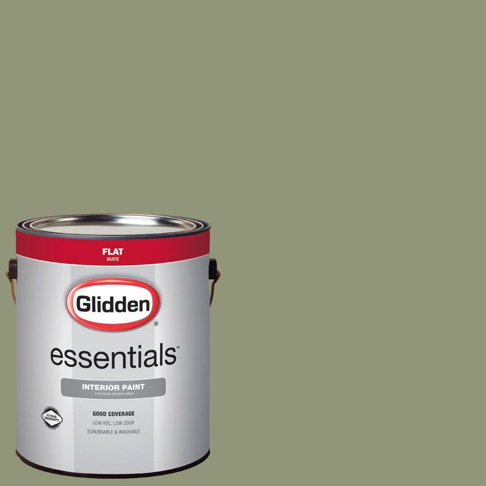 1 gal. #HDGG50D Pine Forest Green Flat Interior Paint