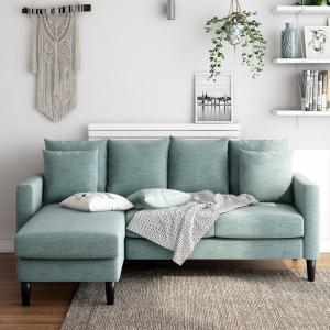 Fabulous Dorel Living Henderson Teal Reversible Sectional Sofa With Caraccident5 Cool Chair Designs And Ideas Caraccident5Info