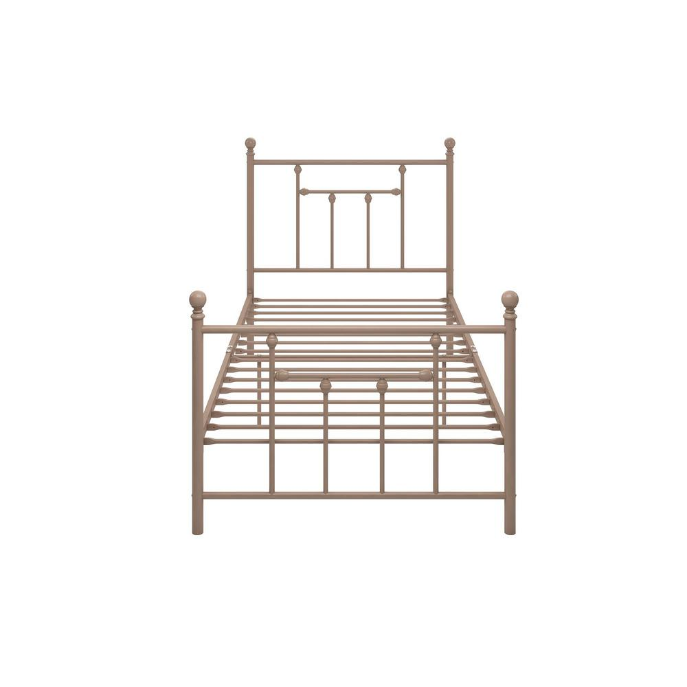 Mia Pink Twin Size Metal Bed