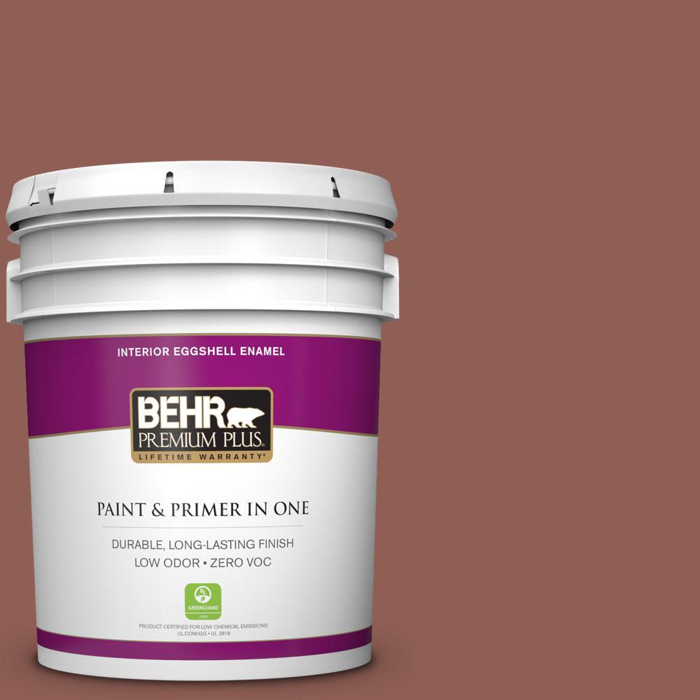 5 gal. #BXC-57 Raw Sienna Zero VOC Eggshell Enamel Interior Paint