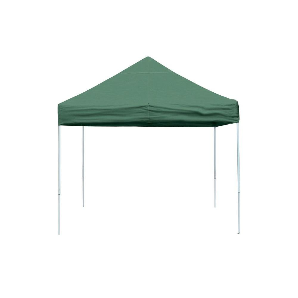 Pro Series 10 ft. x 10 ft. Green Straight Leg Pop-Up