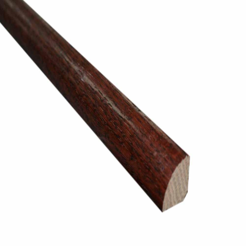 Millstead Oak Dark Gunstock 3/4 in. Thick x 3/4 in. Wide x 78 in. Length Hardwood Quarter Round Molding