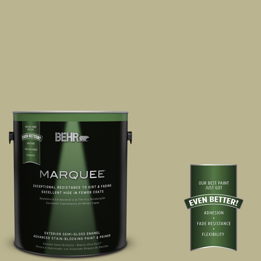 BEHR MARQUEE 1-gal. #PPU9-10 Wasabi Powder Semi-Gloss Enamel Exterior Paint