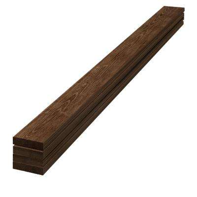 1 in. x 4 in. x 8 ft. Barn Wood Dark Brown Pine Trim Board (4-Pack)