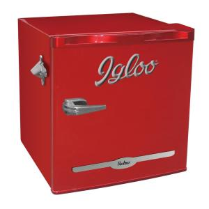Click here to buy IGLOO 1.6 cu. ft. Mini Refrigerator in Red by IGLOO.