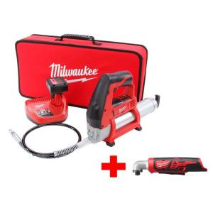 Milwaukee M12 12-Volt Lithium-Ion Cordless Grease Gun XC Kit with Free M12 Right... by Milwaukee