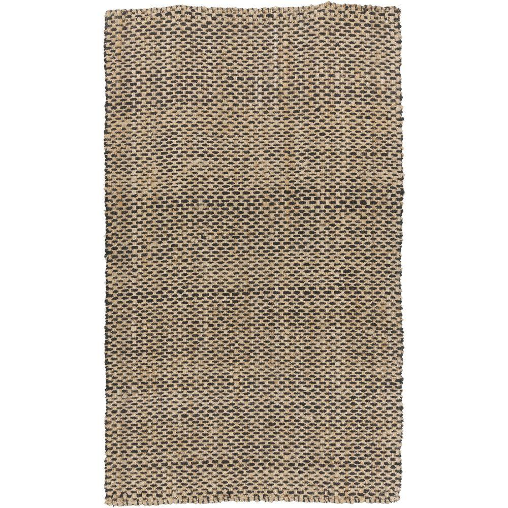 Denchya Black 8 ft. x 11 ft. Indoor Area Rug