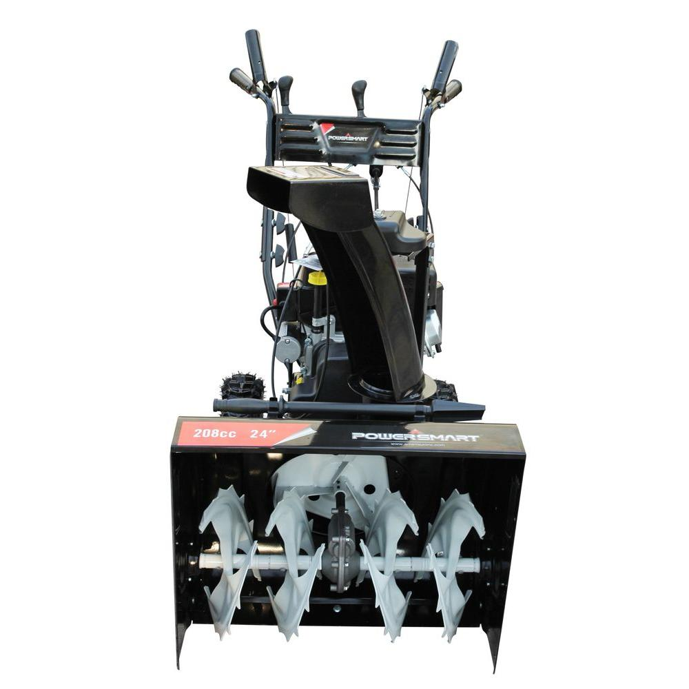 PowerSmart 24 in. Two-Stage Electric Start Gas Snow Blower