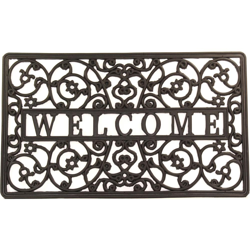Wrought Iron Collection Black Scroll 30 In X 18 In