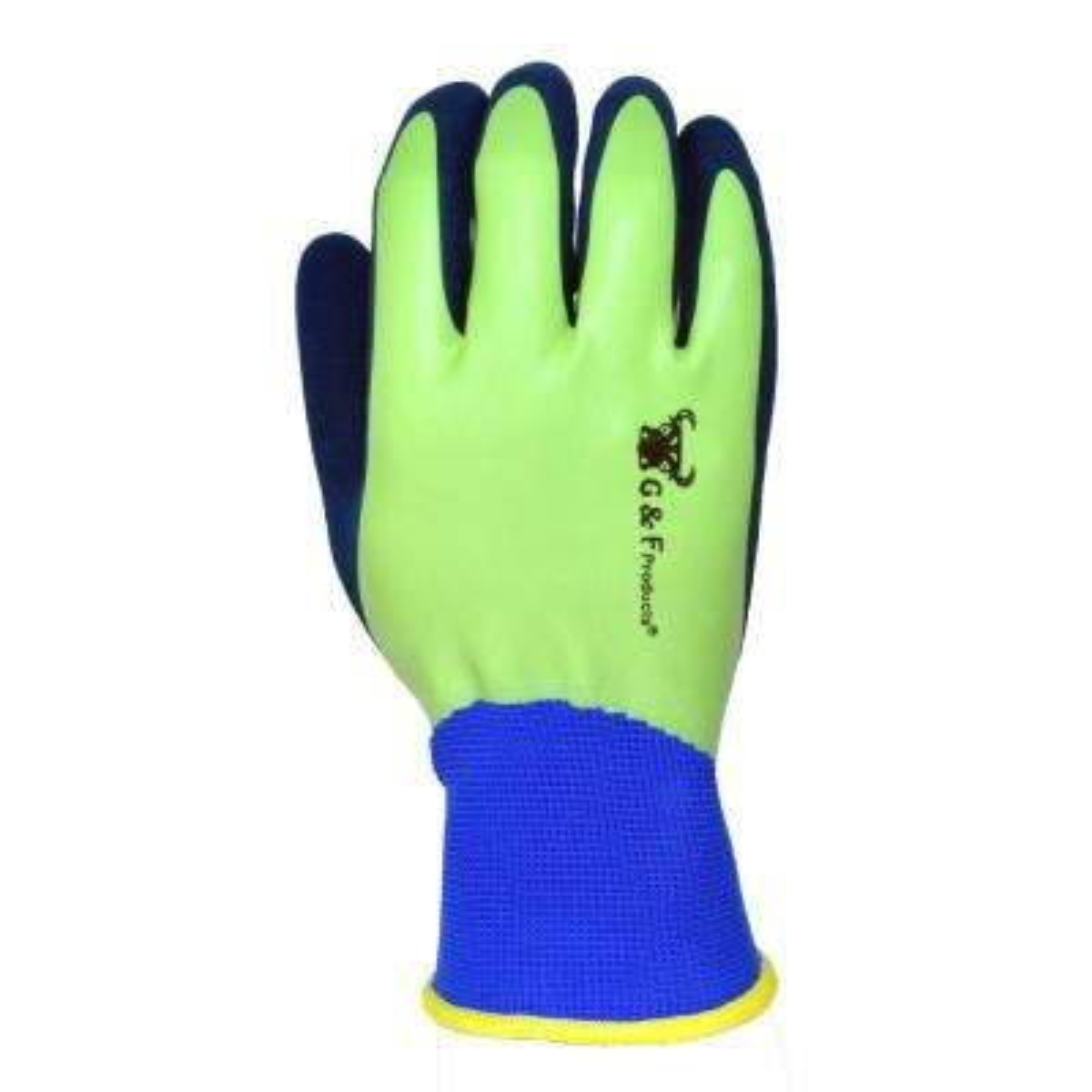 EndurancePro Waterproof Seamless Knit Garden Gloves with Double Microfoam Nitrile Coating, Men's Medium