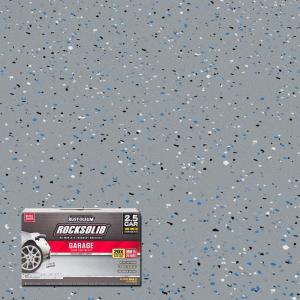 Rust Oleum Rocksolid 152 Oz Gray Polycuramine 2 5 Car Garage Floor Kit 286879 The Home Depot