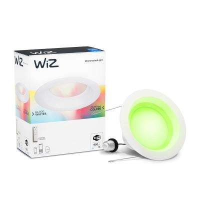6 in. Colors and Tunable White 75W Equivalent Wi-Fi Recessed Retrofit Down LED Light Bulb