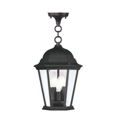 Providence 3-Light Black Outdoor Incandescent Pendant