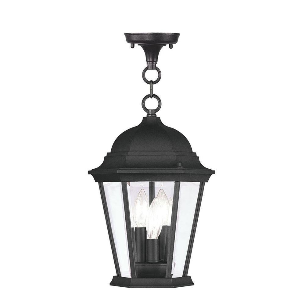 Providence 3-Light Black Outdoor Incandescent Pendant