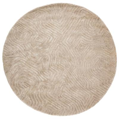 Impress Hand-Tufted Beige 6 ft. x 6 ft. Contemporary Round Rug