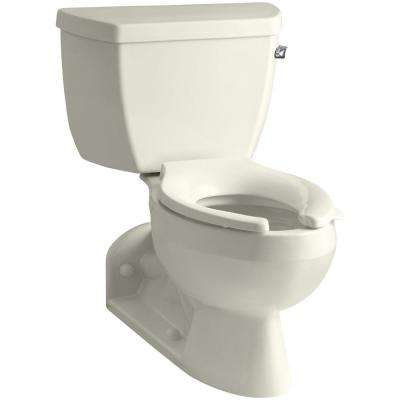 Barrington 4 in. Rough-In 2-piece 1.6 GPF Single Flush Elongated Toilet in Biscuit
