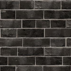 Tempaper Textured Brick Ebony Self Adhesive Removable Wallpaper Br523 The Home Depot