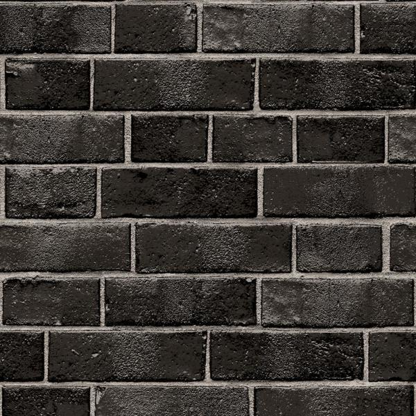 Tempaper Brick Ebony Self-Adhesive Removable Wallpaper