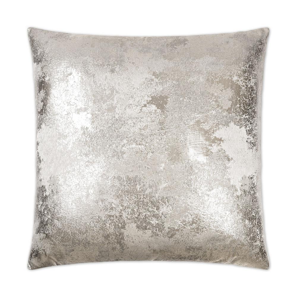 Nikko Silver Geometric Down 24 in. x 24 in. Throw Pillow