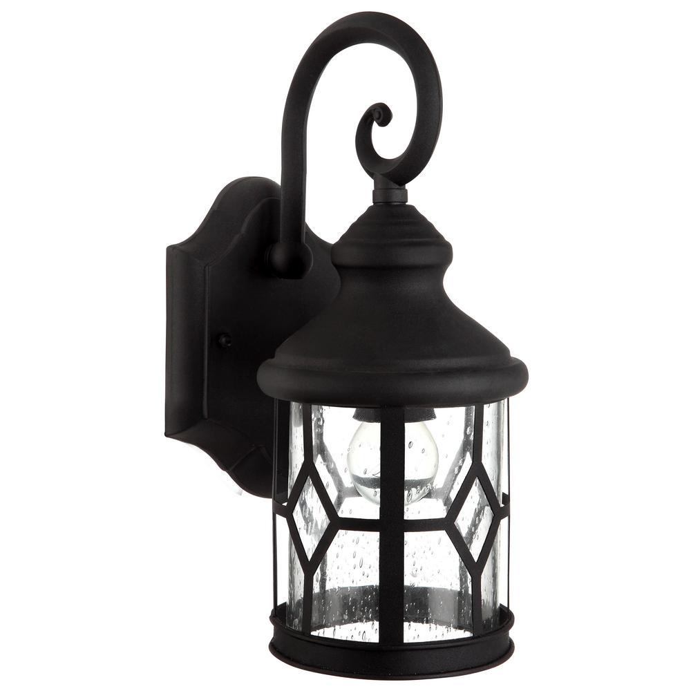 Atlanta 1-Light Outdoor Black Wall Mount Lantern