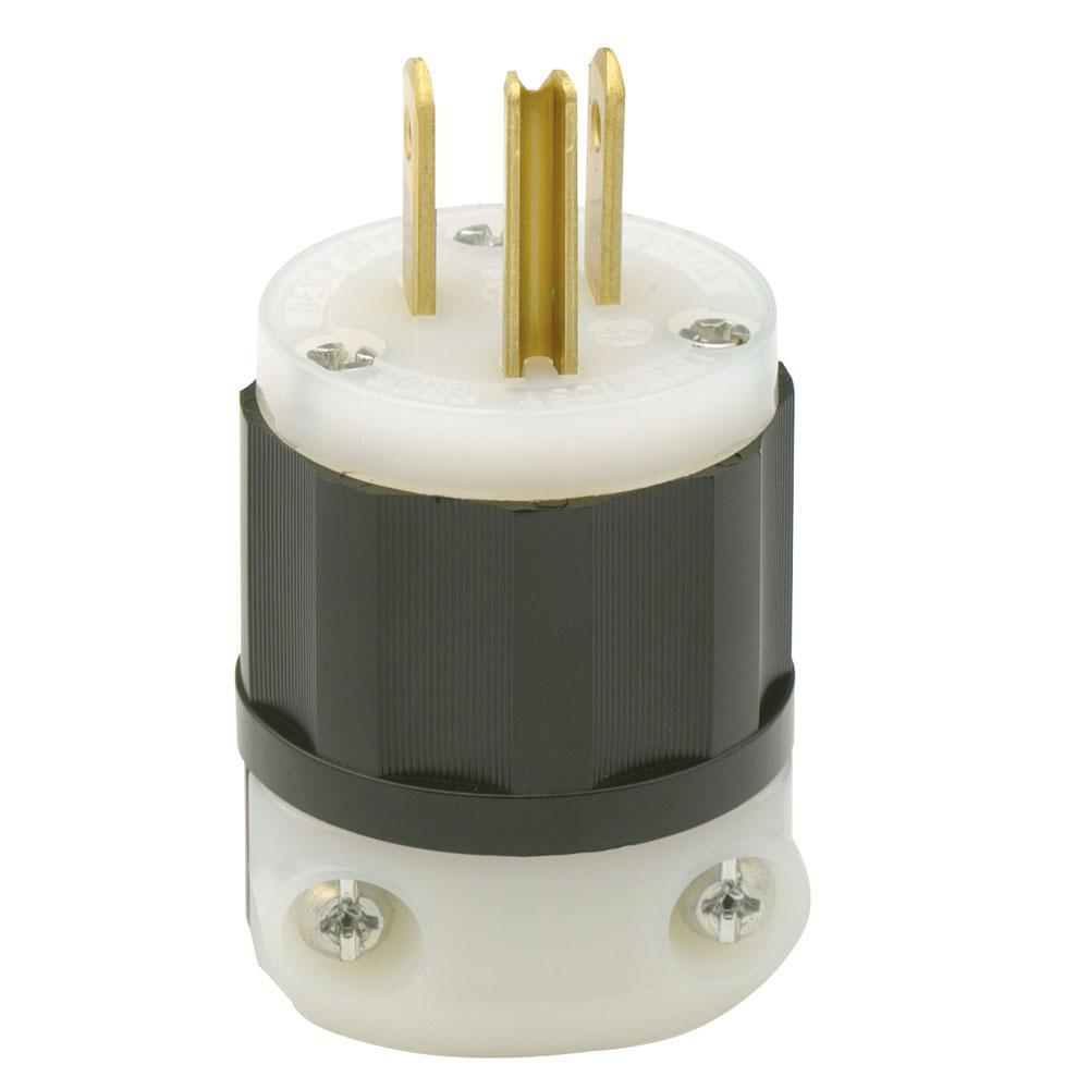 leviton 15 amp 125 volt industrial grade straight blade plug in