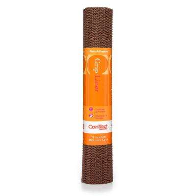 Grip Liner 12 in. x 5 ft. Chocolate Non-Adhesive Grip Drawer and Shelf Liner (6-Rolls)