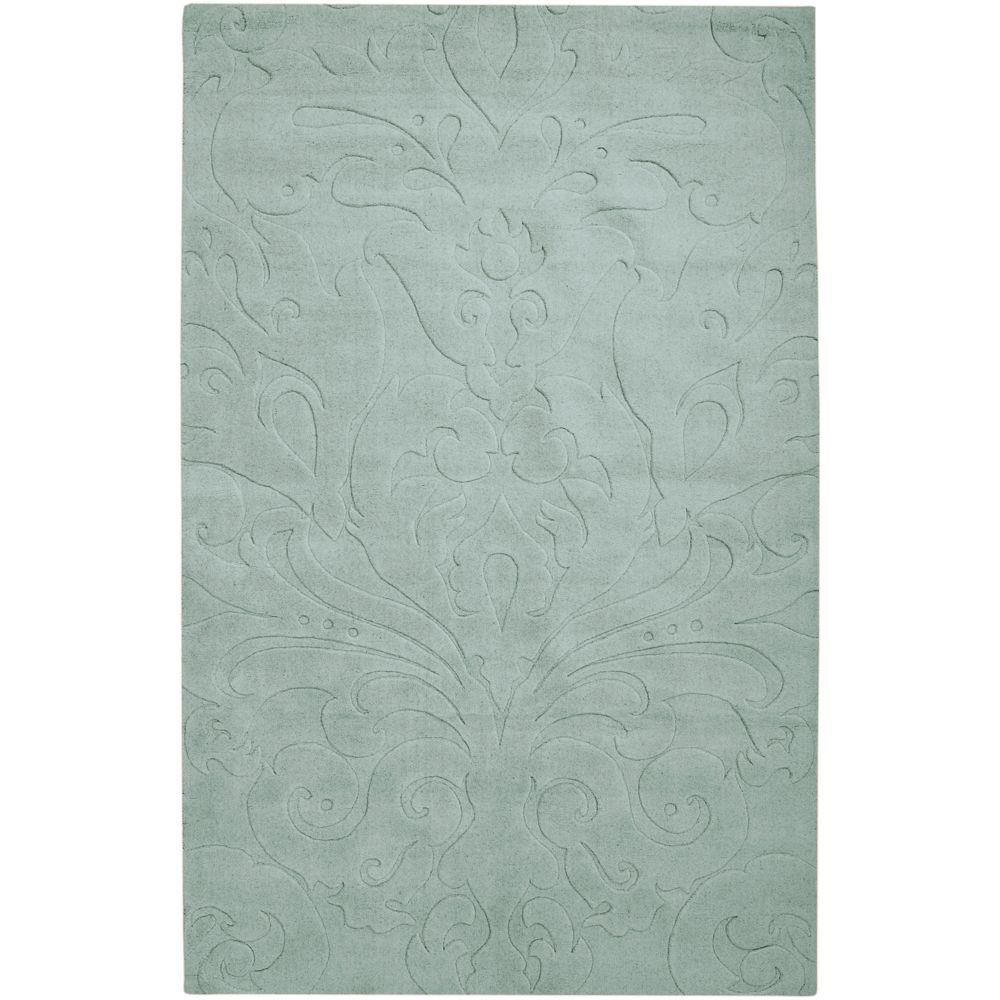 Candice Olson Light Blue 5 ft. x 8 ft. Area Rug