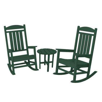 Presidential Green 3-Piece Patio Rocker Set