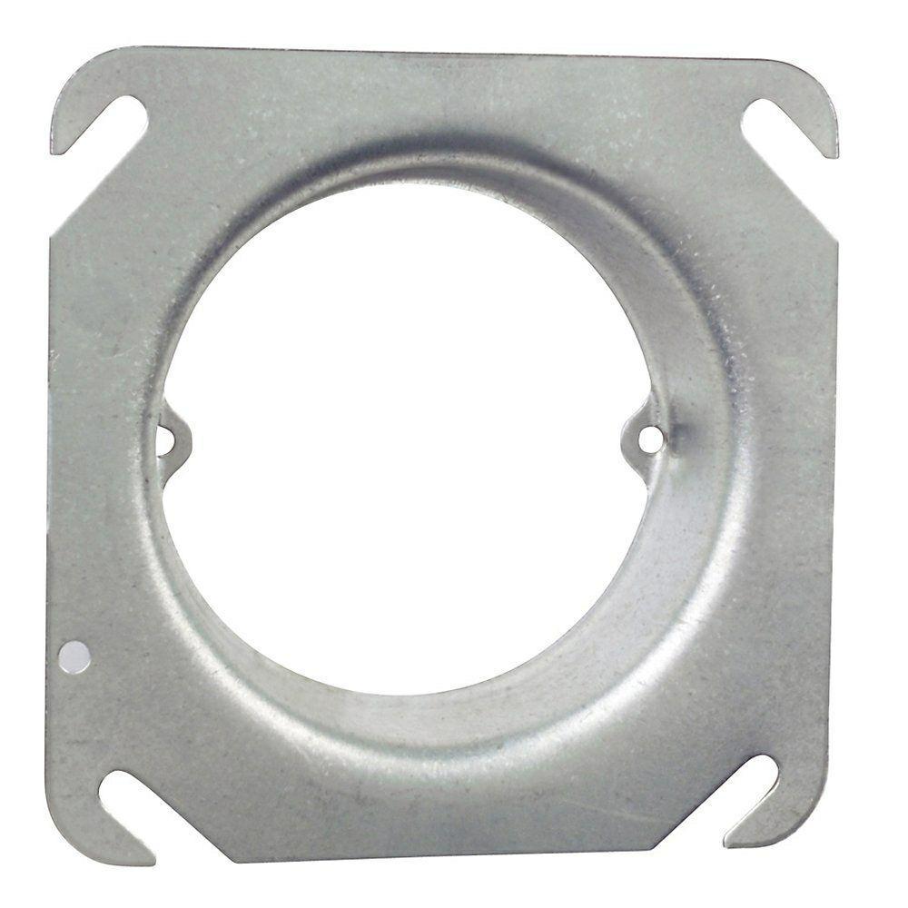 4 in. 5.8 cu. in. Pre-Galvanized Steel Square Mud Ring - 1 in. Raised (Case of 25)