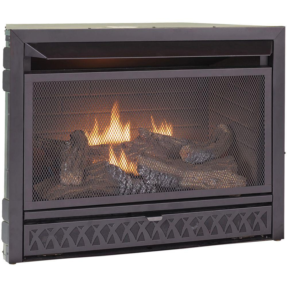 Procom Gas Fireplace Insert Duel Fuel Technology 26 000