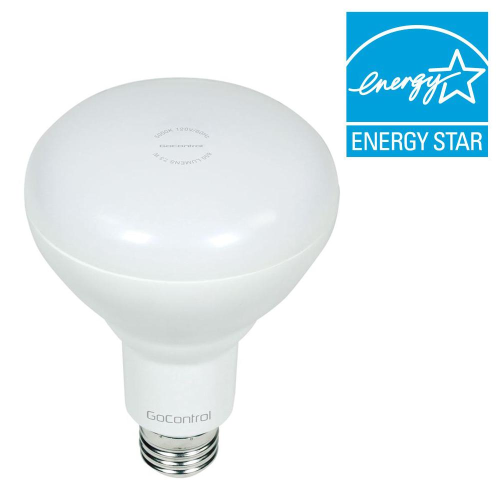 GoControl Z-Wave 65W Equivalence Cool White BR30 Dimmable LED Indoor ...