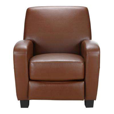 Marina Camel Faux Leather Recliner