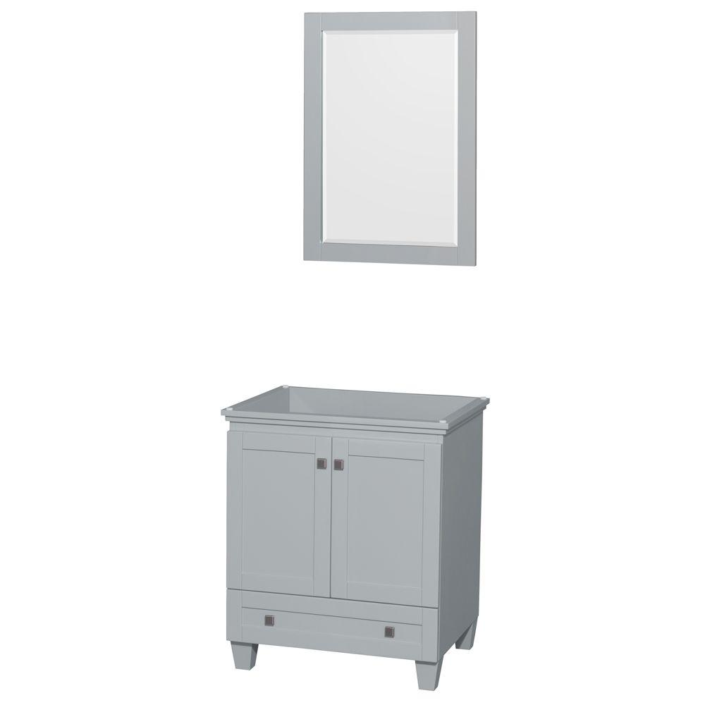 Acclaim 30 in. Vanity Cabinet with Mirror in Oyster Gray
