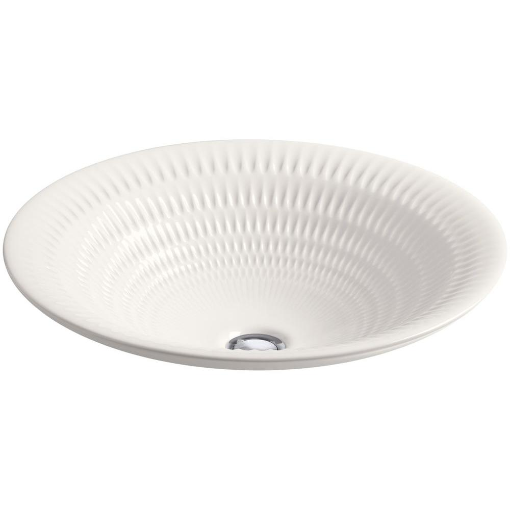 KOHLER Derring DropIn Vitreous China Round Bathroom Sink In - Drop in oval bathroom sinks for bathroom decor ideas