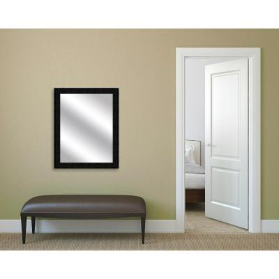 32.375 in. x 26.375 in. Black Framed Mirror