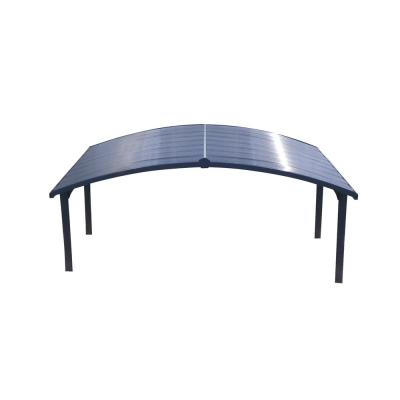 Arizona Double Carport Wave Arch 19 ft. x 16 ft. 3 in. x 9 ft. H with Corrugated Solar Gray Polycarbonate Roof Panels