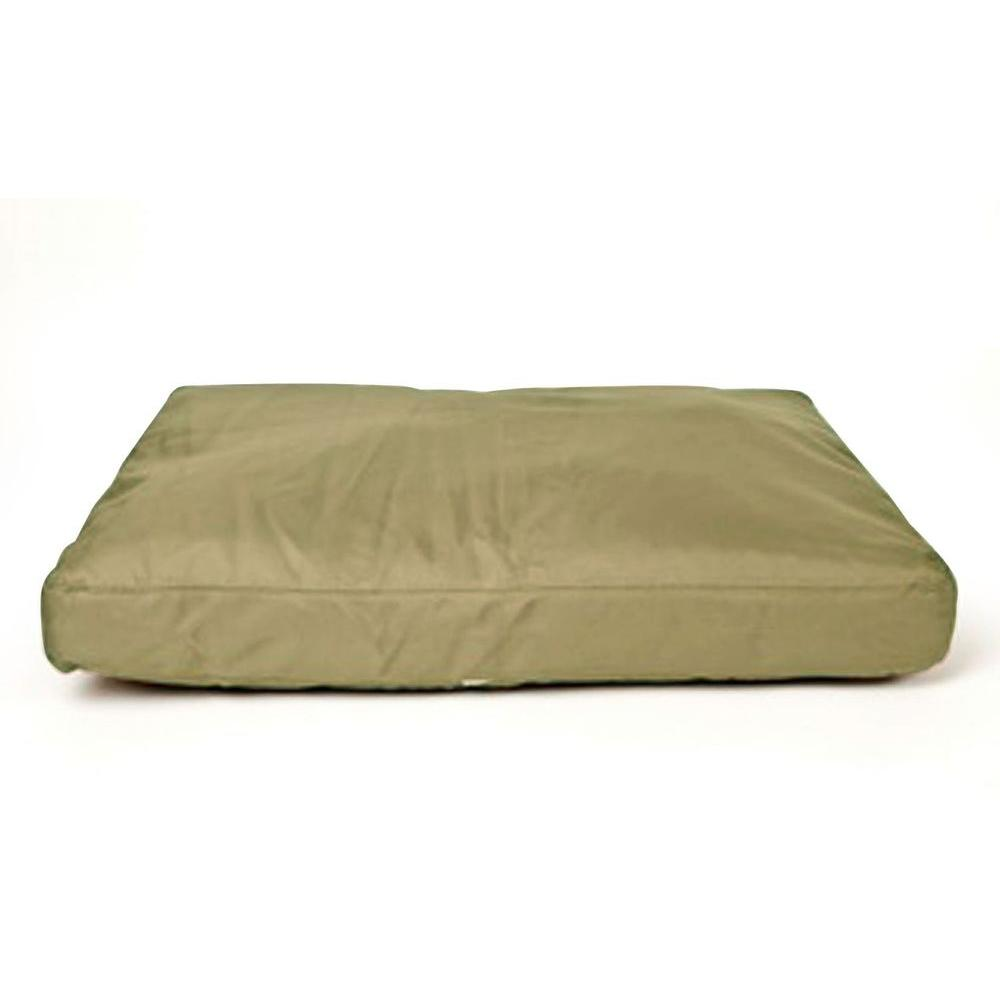 null Small Brutus Tuff Khaki Saddle Stitch Petnapper Dog Bed